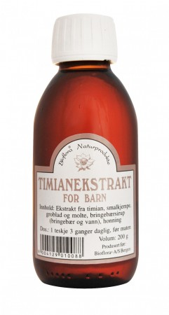 Hostesaft Timian for barn